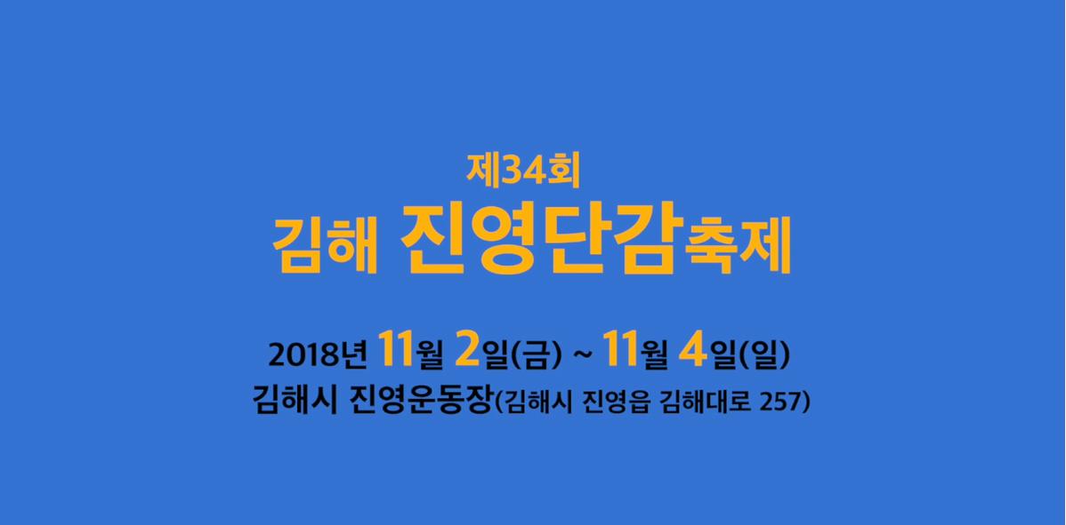 제34회 김해 진영단감축제 SNS 홍보영상